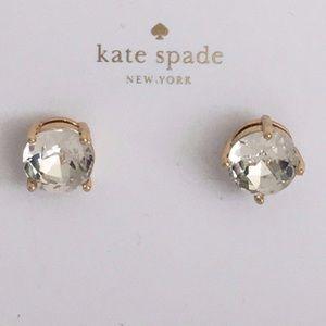 NWT♠️KATE SPADE♠️Gumdrop Earring Studs-Clear/Gold